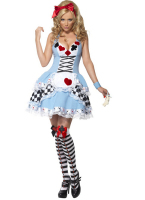 Sexy Red Hearts Maid Dress Alice Madness Returns Cosplay Blue Ruffles Roupas Sleeveless Plaid Lace Woman Dress BI126