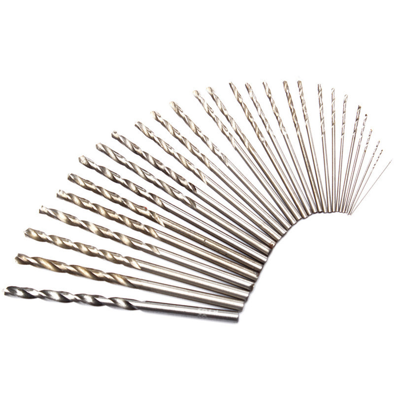цена на 10pcs/set New 1mm/2mm/3mm Micro HSS Straight Shank Twist Drilling Bits Set Hand Drill For Woodworking Tools