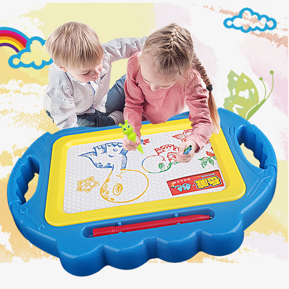 Coloring Toy Magnetic Drawing Non-toxic Doodle Board Kids Educational Painting Imagination Learning Writing Mat Pen Smooth Edges