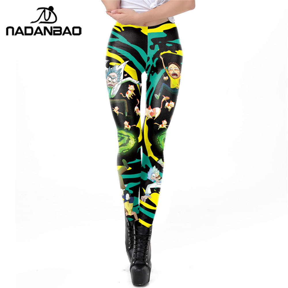 NADANBAO   Leggings   Women Rick And Morty Plus Size Leggin Workout Cartoon Printed Fitness   Legging