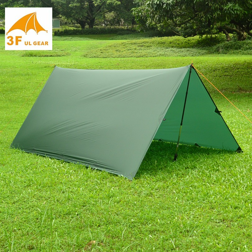 Just 510 grams 3F UL GEAR 3*3 meters 15d nylon silicone coating high quality outdoor caming tent tarpJust 510 grams 3F UL GEAR 3*3 meters 15d nylon silicone coating high quality outdoor caming tent tarp
