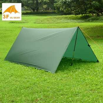 Just 510 grams 3F UL GEAR 3*3 meters 15d nylon silicone coating high quality outdoor caming tent tarp - DISCOUNT ITEM  30% OFF All Category