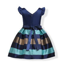 Gorgeous Girls Striped Party Dress