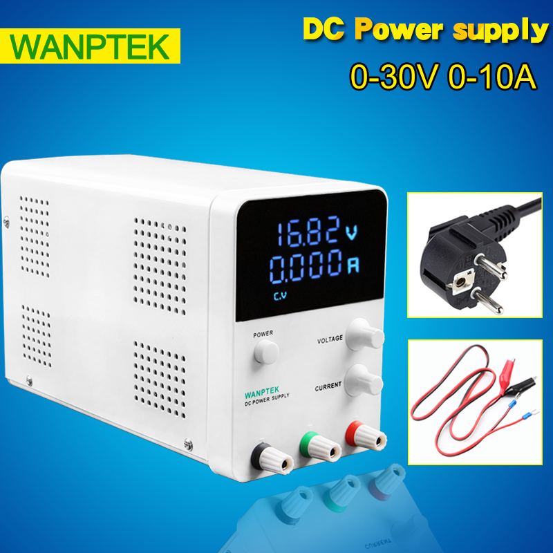 Wanptek GPS3010D SMPS 220V switching DC power supply 0.001A Four Digital DC Power Supply 0-30V 0-10A Laboratory power supply graupner polaron smps power supply black switching power supply free shipping