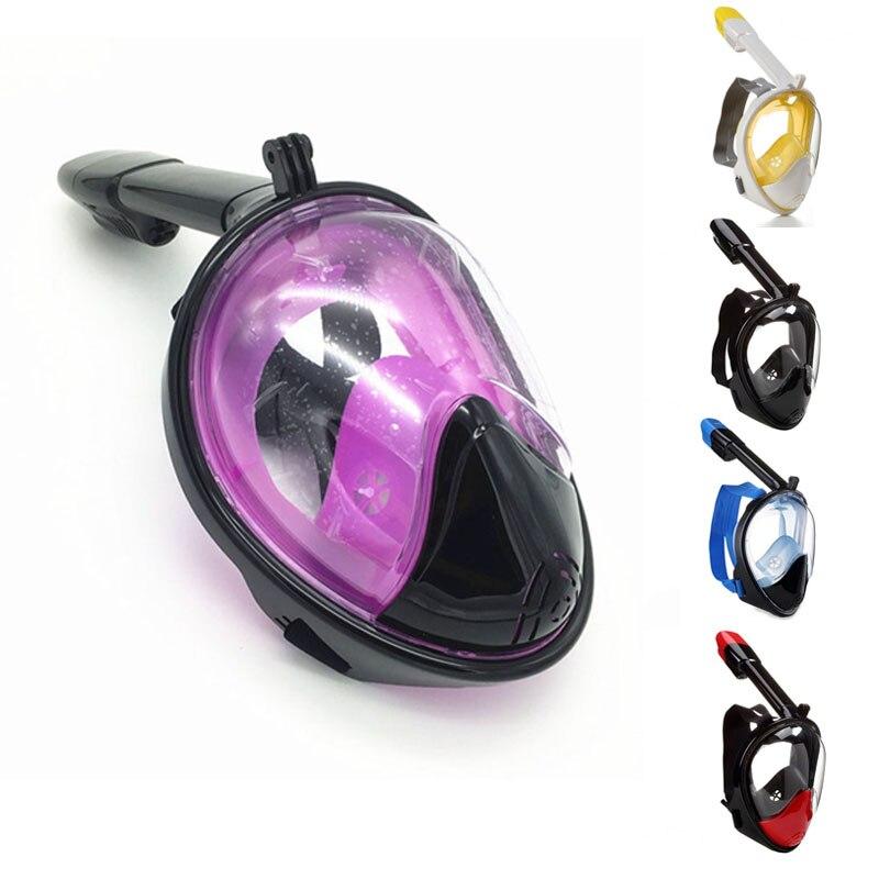 Haute qualité adultes sous-marin plein visage Silicone masque de plongée plongée sous-marine Sports de plein air natation équipement de sécurité