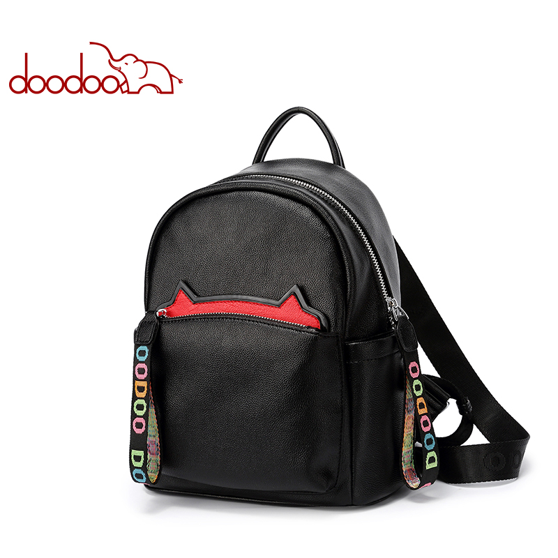 DooDoo backpack female 2018 new Korean backpack large capacity bags fashion personality Original new female Woman's bag rdgguh backpack bag new of female backpack autumn and winter new students fashion casual korean backpack