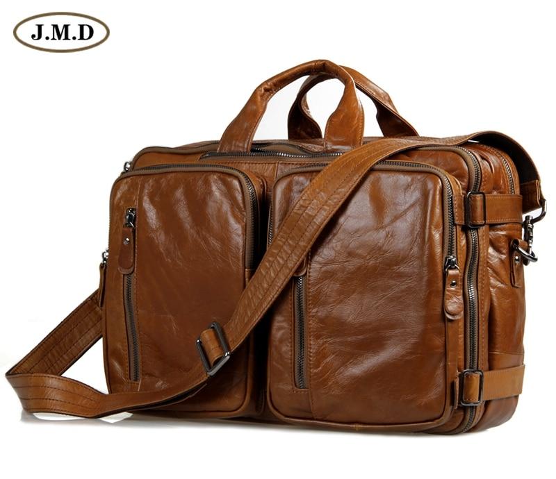 100% Guarantee Genuine Leather Travel Briefcase Handbag Laptop Bag For Men 7014B