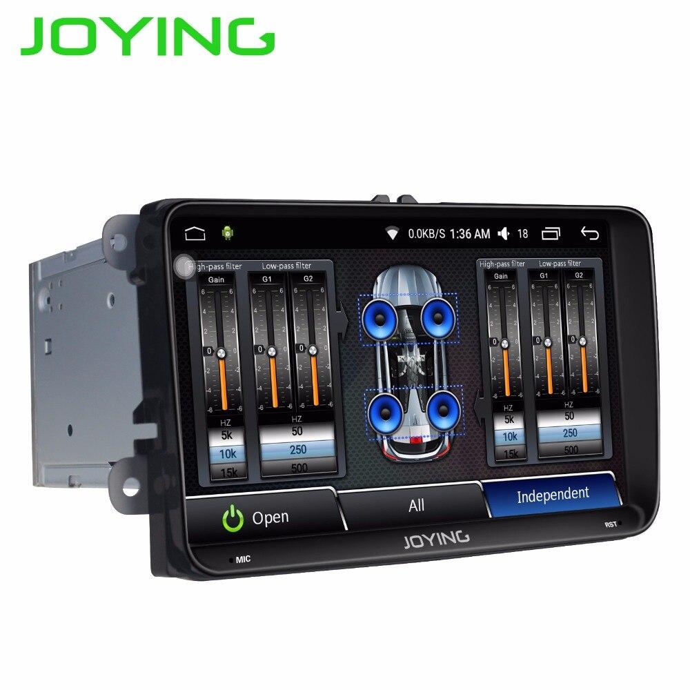 JOYING 2 DIN unidade de cabeça Android 6.0 autoradio carro gravador com DSP stereo player para VW Golf/Passat/Tiguan/Jetta/Polo/Caddy
