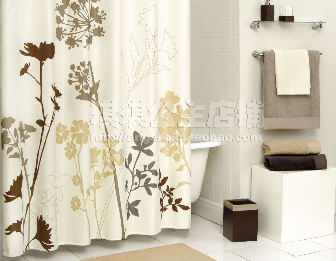 european style luxury bathroom shower curtain curtain beige hand painted dandelionin shower curtains from home u0026 garden on alibaba group