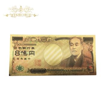 Złoty 888888 10 sztuk partia kolor Japan Gold banknot osiemset milionów jenów w 24 K pozłacane do dekoracji domu tanie i dobre opinie Antique sztuczna Patriotyzmu FGHGF 7days after you paid Souvenir collection