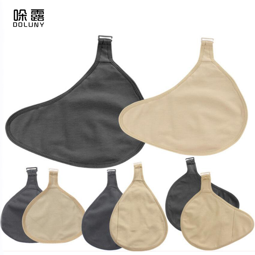 1PC Cotton Protective Cover Has Hook Breathable Lightweight Silicone Breast Breast Form Protection Case D30