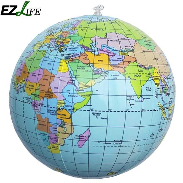 World Map Globe Aerated Inflatable World Globe Ball Earth Tellurion Home  World Map Globe