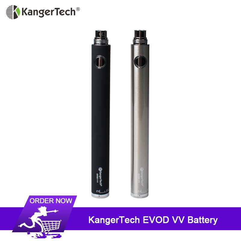 Original KangerTech Evod VV Battery 1000mAh Electronic Cigarette 510 Thread Vape Pen For CE4 CE5 Evod H2 T3S Atomizer