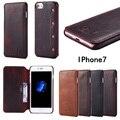 4.7 5.5 polegada universal wallet virar case capa para iphone 6 s 6 s 7 plus 6 mais telefone de luxo de couro de vaca saco de coque Capinha