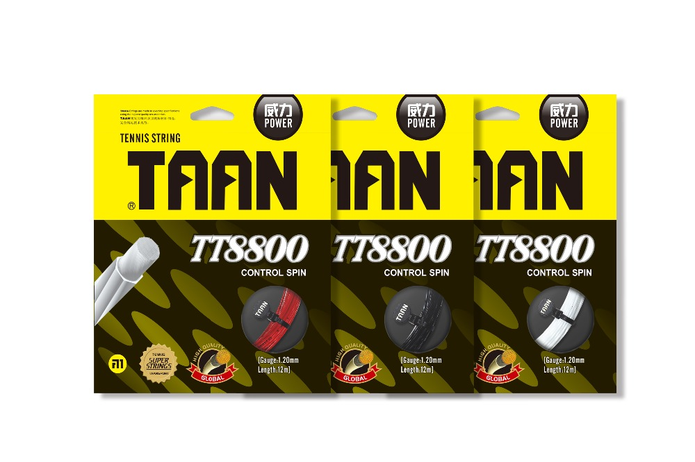 1pc TAAN TT8800 Heptagon Tennis String Power Tennis Racquet String Polyester String 1.2mm