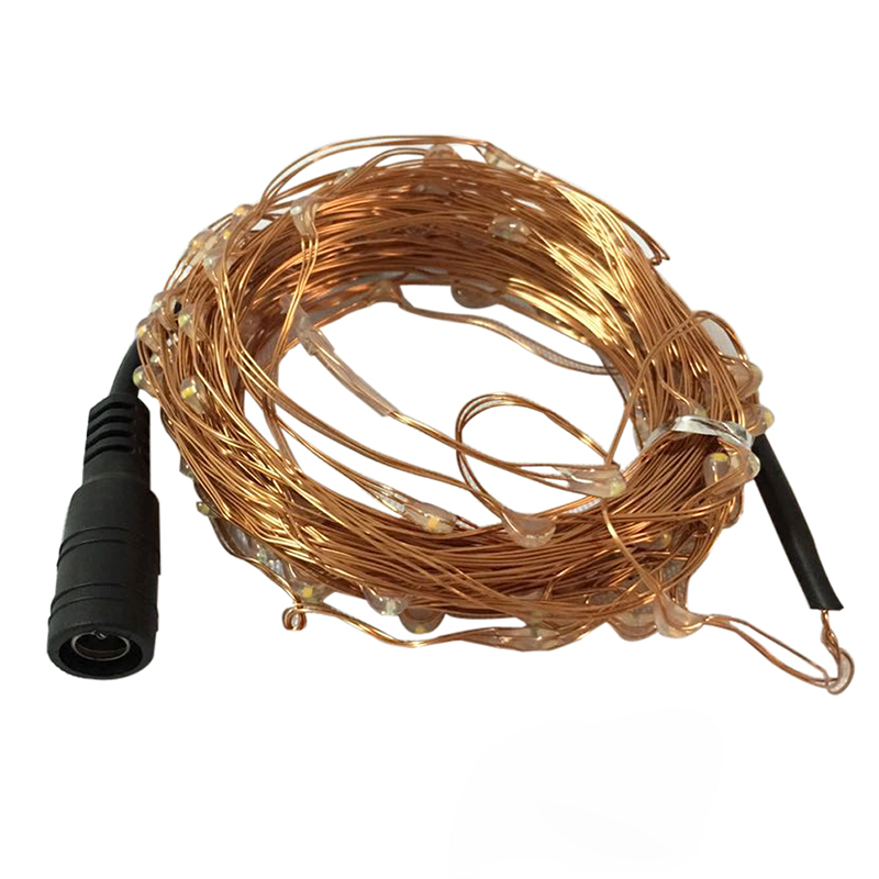 10 M Led String Lichter Mit 5,5*2,1mm Dc Weibliche Stecker Kupfer Draht Girlande Weihnachten Fairy Lichter Für Ferien Weihnachten Dekoration