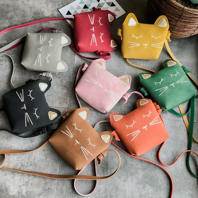 2018 princess Mini Cute Cat Ear Shoulder Bag Kids All-Match Key Coin Purse  Cartoon Lovely Messenger Bag little girl's present