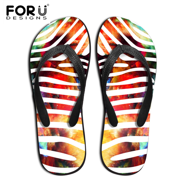 fd19d688bf130a FORUDESIGNS Summer Slippers For Women Casual Fashion 3D Leopard Ladies  Beach Flip Flops Flat Sandals Sapatos Feminine Sandalias