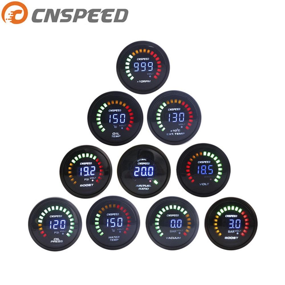 medium resolution of cnspeed 2 52mm 20 pulse led bar psi digital vacuum oil warm water temperature oil