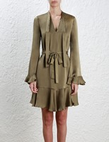 2016 New Australian Luxury Brands Fashion Style Sexy Evening Dress Lotus Leaf Dresses For Women Silky