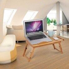 1 шт. Регулируемый бамбуковый стеллаж полка для общежития кровать подставка для ноутбука два цветка книжный стол для чтения ноутбука