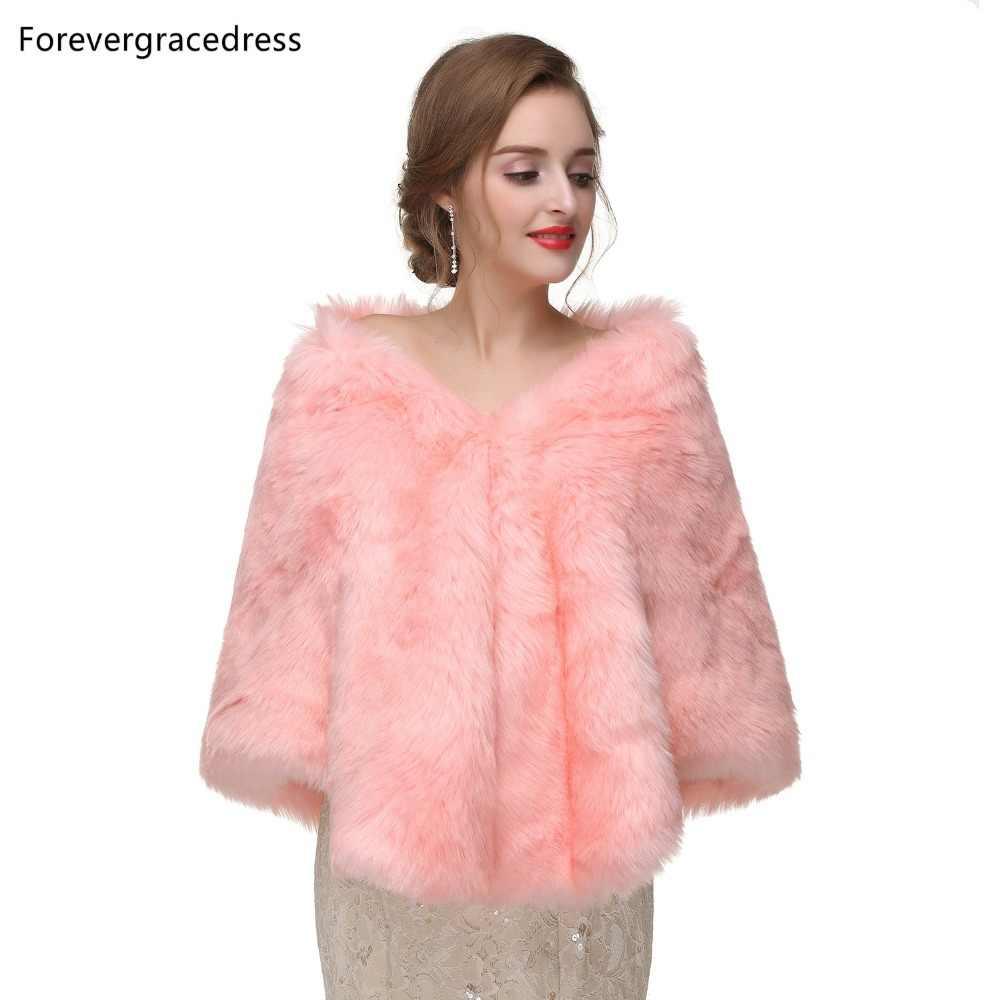Forevergracedress 2019 элегантные мягкие осень зима из искусственного меха невесты