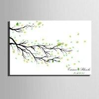 Fingerprint Tree Signature Canvas Print Spring Wedding Gift Wedding tree wedding DIY decoration (Include 6Ink Colors)