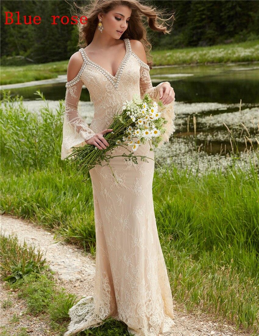 Boho chic wedding dress shop online