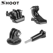 SHOOT 4 in 1 기본 액션 카메라 액세서리 GoPro Hero 용 퀵 릴리스 버클 삼각대 마운트 9 7 8 5 Go Pro SJCAM Yi 4K Eken H9