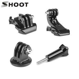 Image 1 - SHOOT 4 w 1 podstawowe akcesoria do kamer akcji szybka klamra uciskowa statyw uchwyt na GoPro Hero 9 7 8 5 Go Pro SJCAM Yi 4K Eken H9