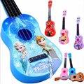 55 cm big 4 Escalas de Simulação Dos Desenhos Animados Elsa Anna Crianças carro de Brinquedo Instrumento Musical para Crianças a Aprendizagem Precoce de Música Brinquedo Sofia guitarra