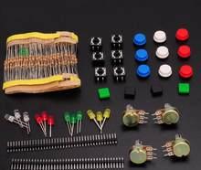 Kit de componentes (resistencia de película de carbono + LED + potenciómetro WTH148) Kit súper electrónico de componentes s piezas normales paquete de juego surtido