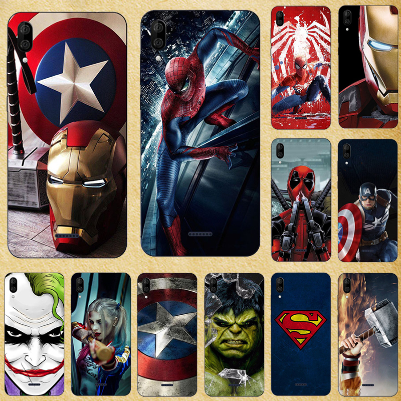 Super Hero Phone Case Cover For Wiko Y80 Y60 Y70 Y50 View <font><b>3</b></font> View3 Lite Pro Jerry 4 <font><b>3</b></font> View <font><b>2</b></font> View2 Go Pro Silicone Back cover image