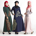 Исламская Мусульманские Платья Женщин Исламская Abayas В Дубае Кафтан Женщин Малайзии Турецкие Дамы Одежда Мусульманских Женщин Платья # MD830