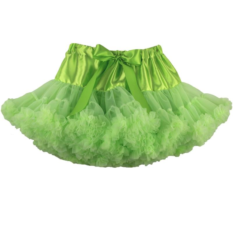 Юбка-американка для девочек; праздничная одежда на Хэллоуин; оранжевые юбки-пачки для маленьких девочек; пышная юбка-пачка для девочек; Одежда для девочек - Цвет: lime green
