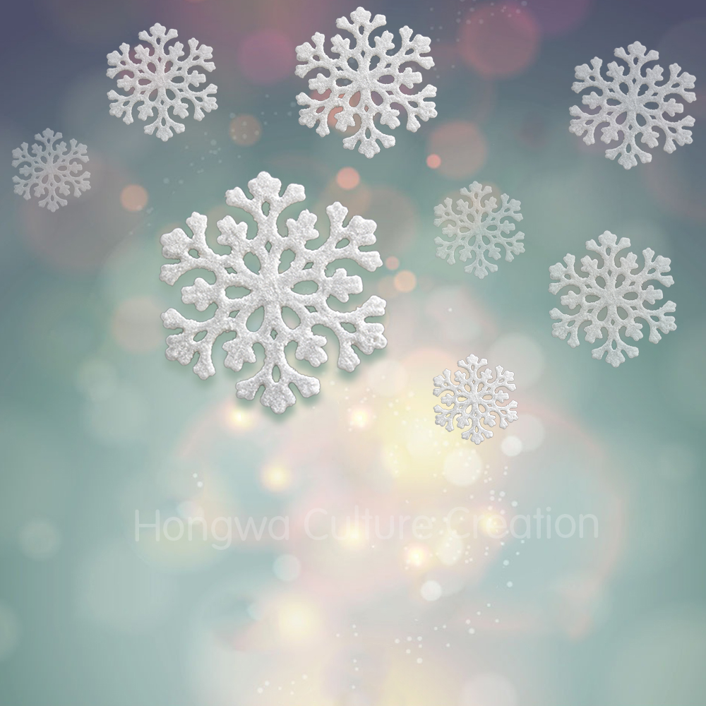 3pcs Acrylic Snowflake Festival And Wedding Decorations Christmas ...