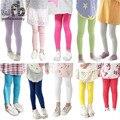 Varejo 1-oito anos leggings pants doce cor Modal de algodão fino crianças crianças infantis Do Bebê para a primavera da queda do outono do verão
