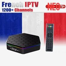 Beligum T95Z, Español y Árabe IPTV NEOTV 1 Año 1000 + Suscripción Amlogic S912 2G/16G H.265 WiFi 4 K Android 6.0 TV caja