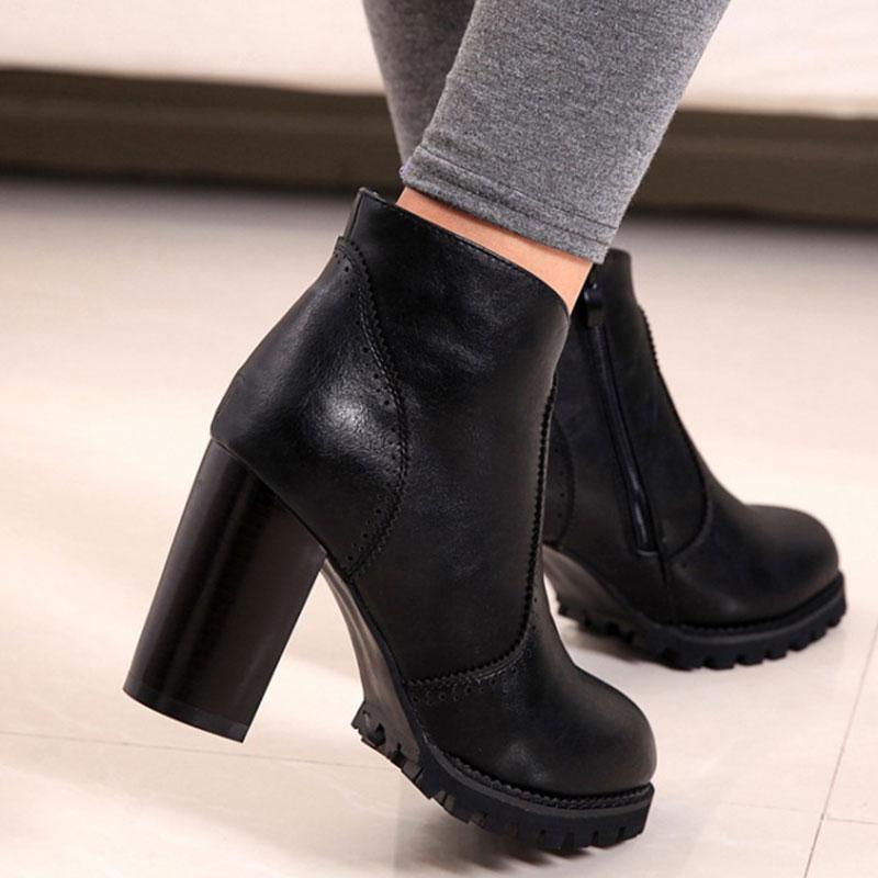 Aliexpress.com : Buy Fashion Shoes Women Boots High Heel Warm ...