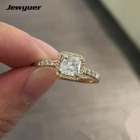 14K Solid Gold Timeless Elegance Rings For Women Engagement Wedding Ring Anillos Collection Fine Jewelry RIP0103