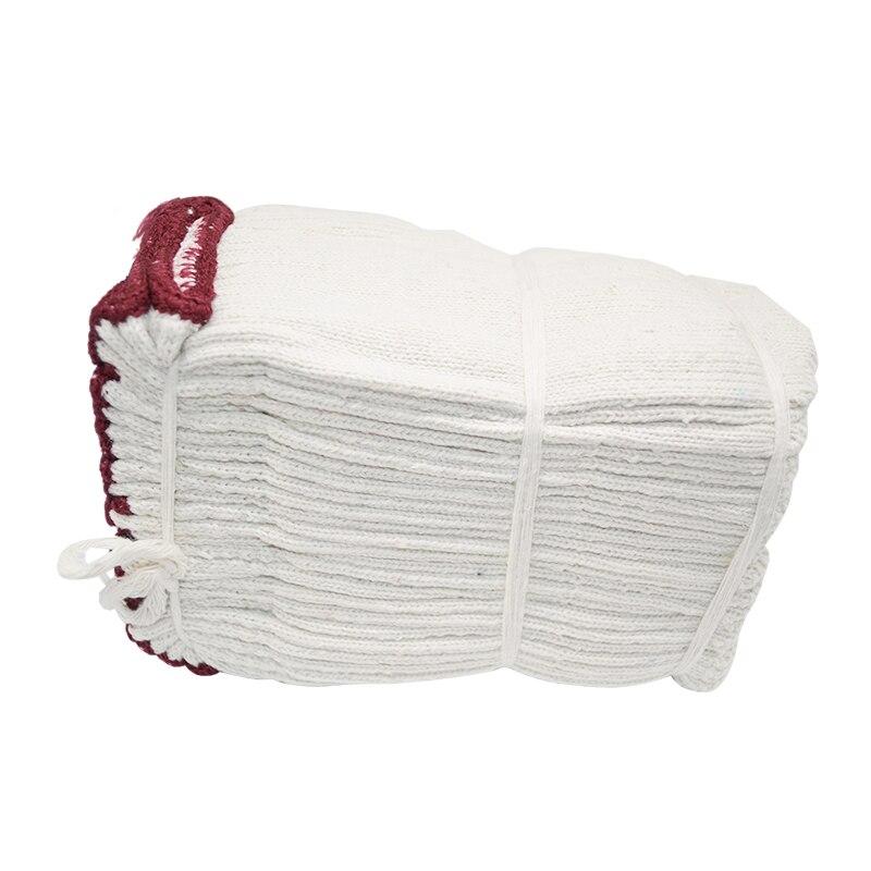 Luvas, luvas de trabalho luvas de fios de algodão resistente na proteção de proteção luvas de trabalho mais flexíveis 24 pares
