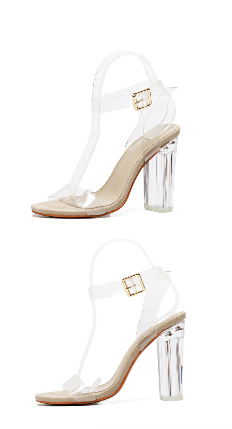 HTB1LmpdXdjvK1RjSspiq6AEqXXaE Eilyken 2019 PVC Jelly Sandals Crystal Leopard Open Toed High Heels Women Transparent Heel Sandals Slippers Discount Pumps 11CM