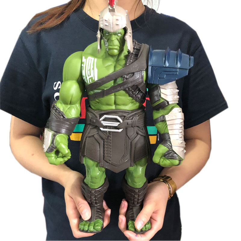 18/35cm Big Size Avengers Marvel Thor 3 Ragnarok Hands Moveable War Hammer Battle Axe Gladiator Hulk BJD Action Figure Model Toy