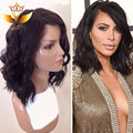 7A Glueless Full Lace Wigs Virgin Malyasian Short Bob Wavy Full Lace Human Hair Wigs For Black Women Short Full Lace Front Wigs