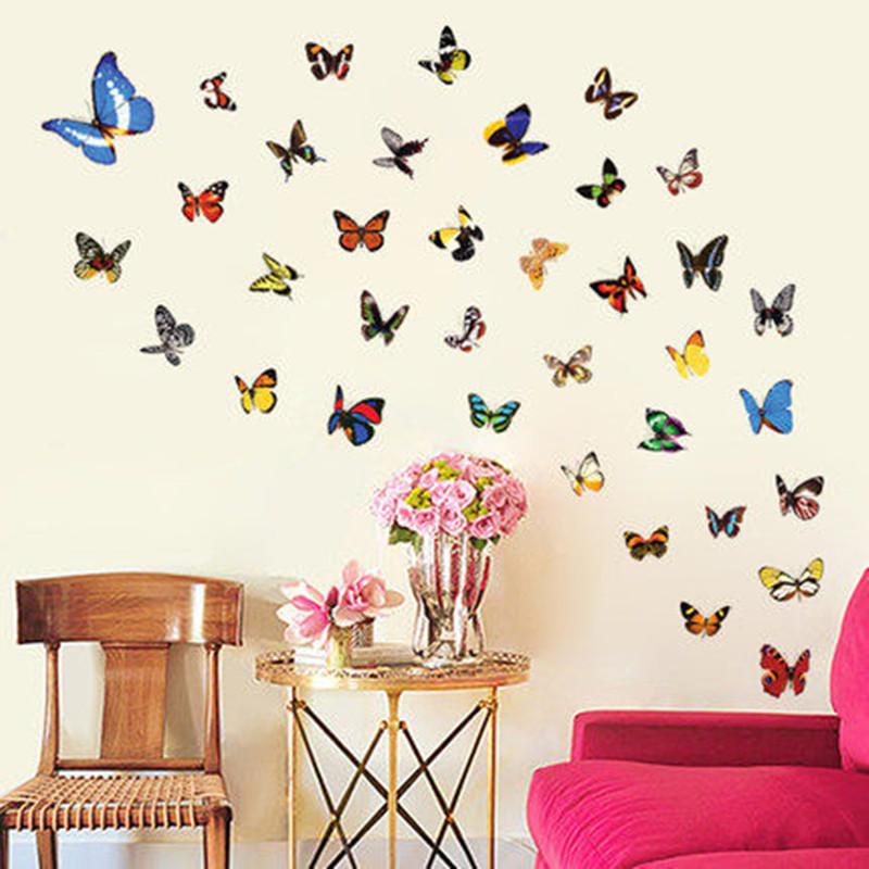 Simulation Butterfly Refrigerator Magnetic Stickers Decor Home Crafts Holiday