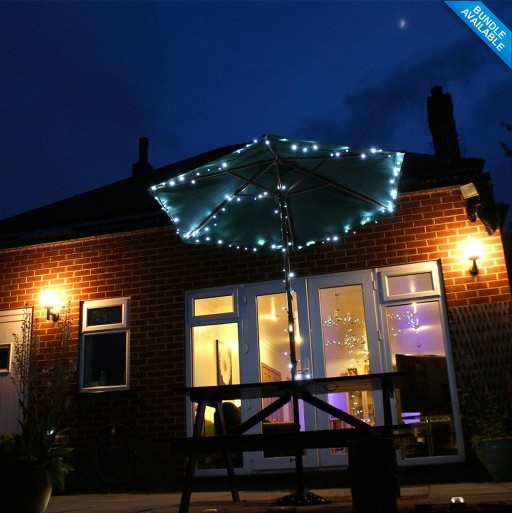 2pcs/Lot 100 White LED Solar Fairy Lights Outdoor Garden Light Solar  Powered Battery Light String For Perfect For Garden Feature