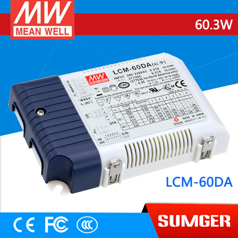 ФОТО [Freeshiping 1Pcs] MEAN WELL original LCM-60DA 90V 500mA meanwell LCM-60DA 60.3W Multiple-Stage Output Current LED Power Supply
