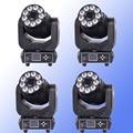 4 шт./лот, хит продаж, 90 Вт, светодиодный прожектор Gobo + 9x18 Вт, RGBWA + UV 6в1, светильник с подвижной головкой для мытья, 90 Вт, США, светодиодный DMX, DJ, т...