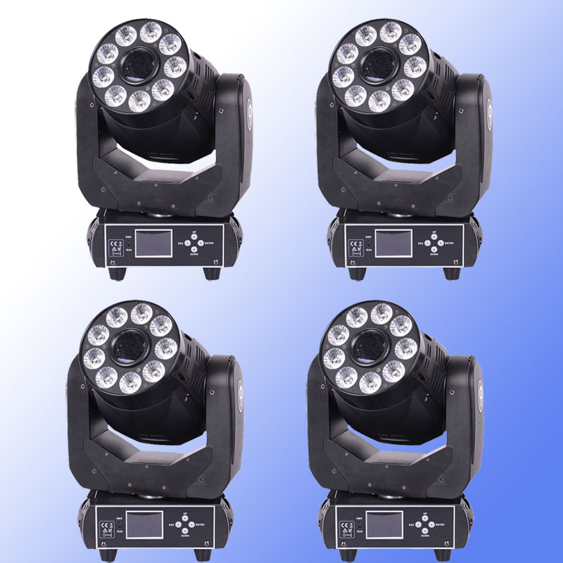 4Pcs/lot Hot-sale 90W LED Gobo Spot + 9x18W RGBWA+UV 6in1 Wash Moving Head Light/90W USA Luminums LED DMX DJ Spot Stage Lighting