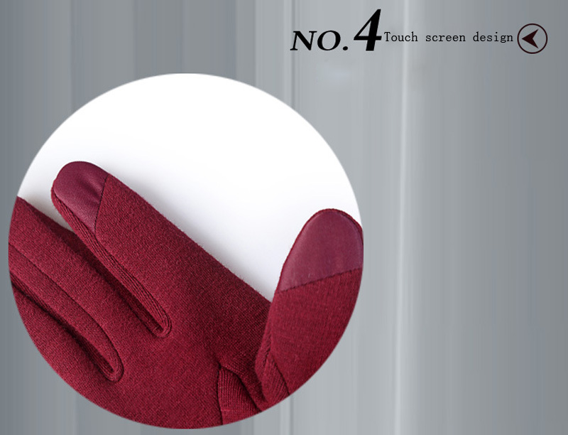 NIUPOZ Fashionable Women Touch Screen Gloves for Winter Made of Warp Knitted Velvet Material including Warm and Windproof Property 8
